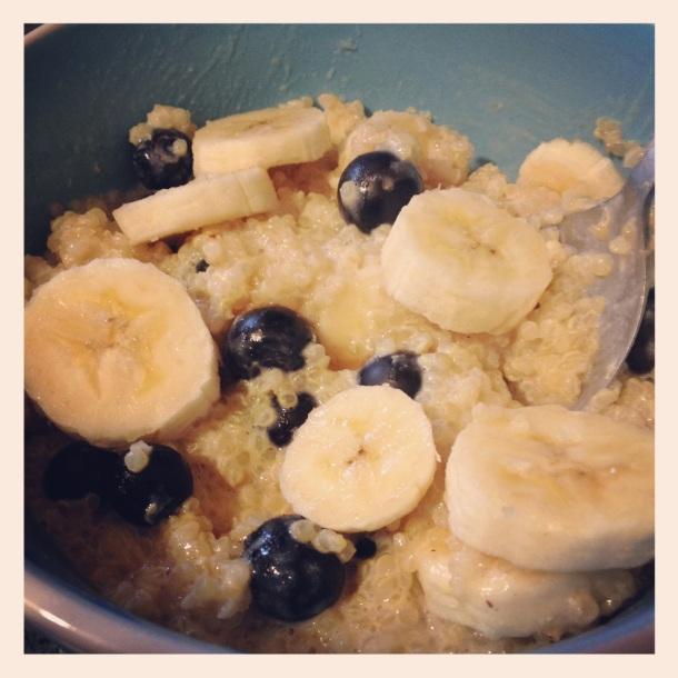 Blueberry banana quinoa