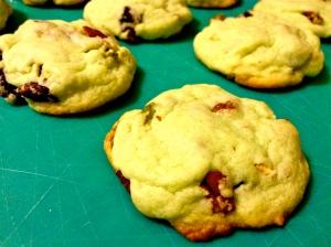 Pistachio salad Thanksgiving cookies