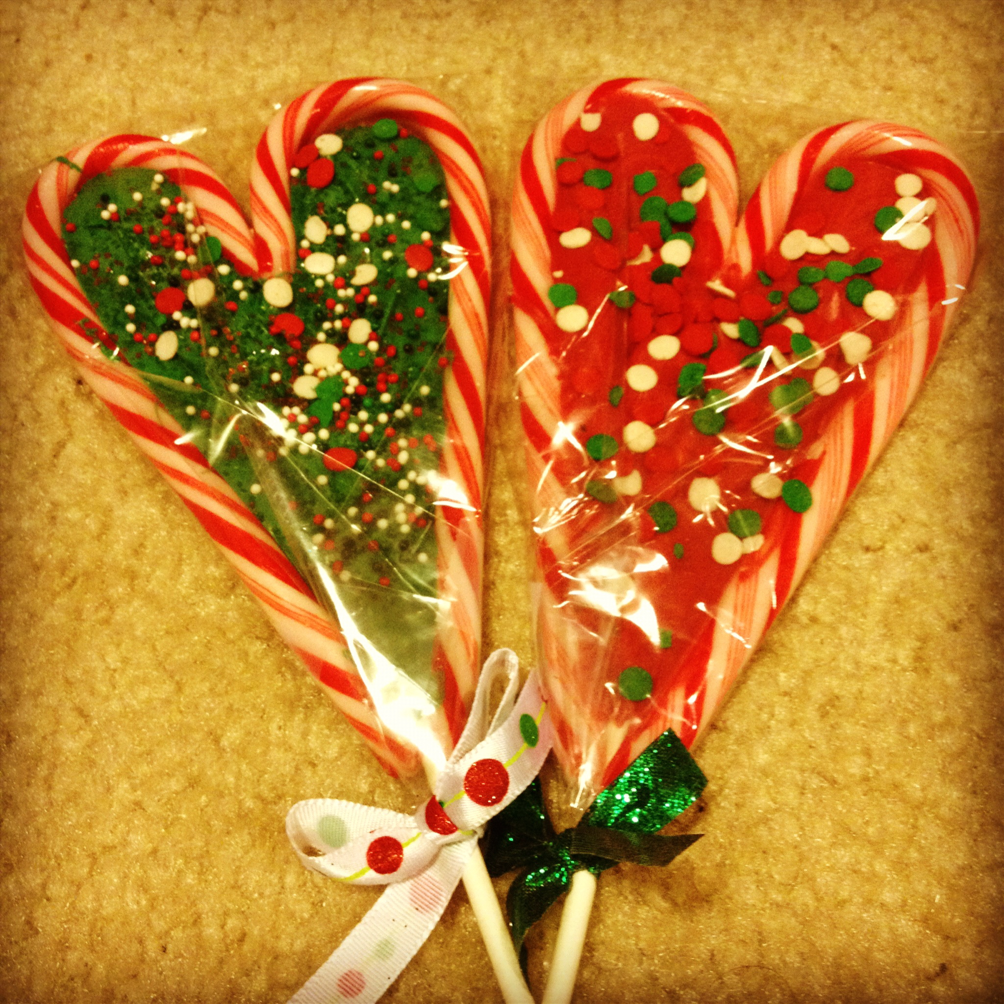 Christmas candy cane pops