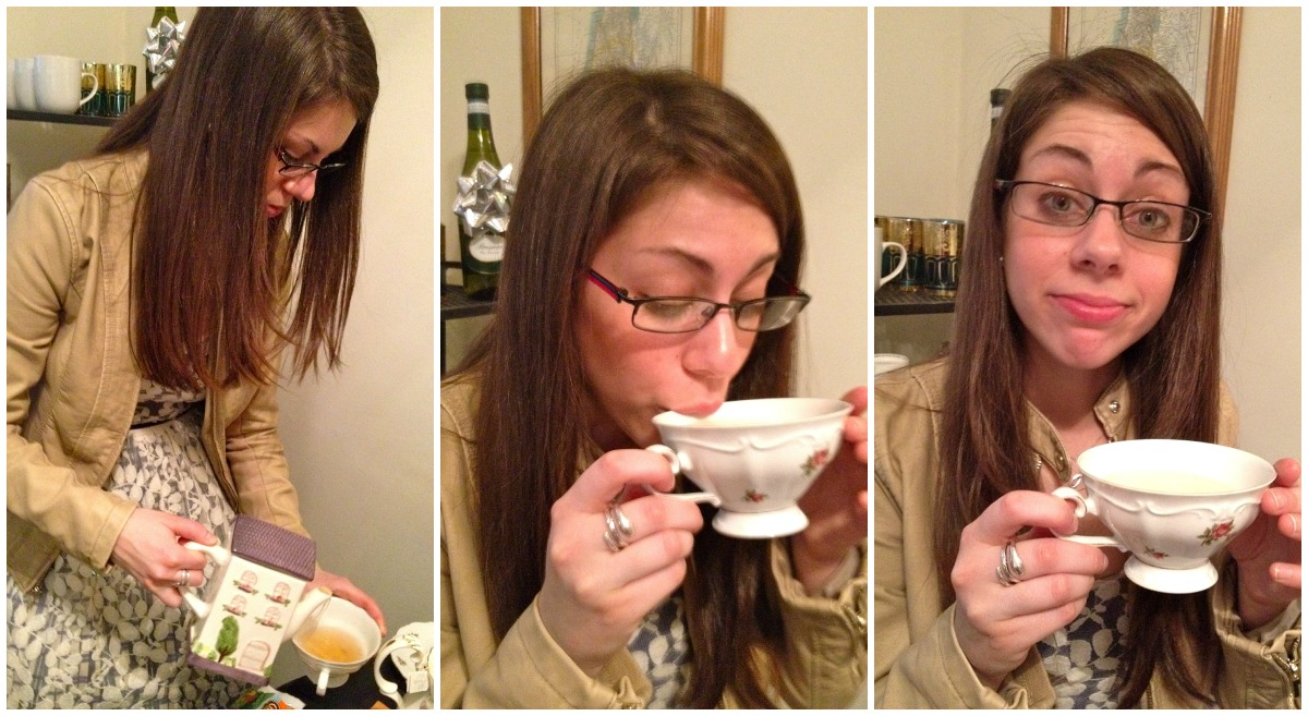 Joanna enjoyed the tea.