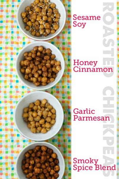 Roasted chick peas, four ways. Congratulations! Jonathan hates the main ingredient in all four recipes! Achievement unlocked: your husband will offer to cook, and will serve you a rare steak with a side of bacon.