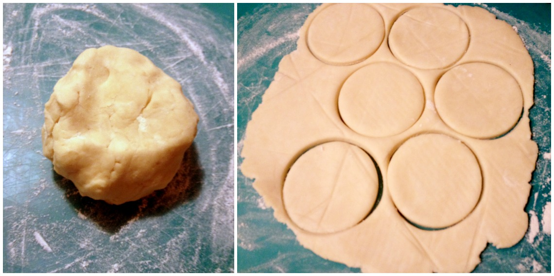 Don't let the homemade dough fool you into thinking I'm not a baking newb; I own no fewer than zero cookie cutters, and those perfect circles were made with a wine glass.
