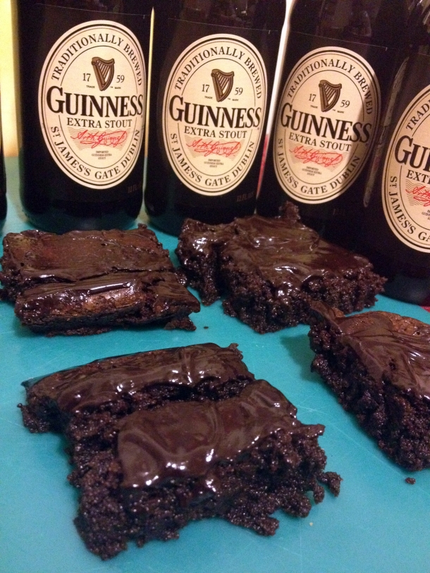 Finished Guinness Brownies