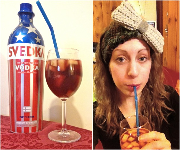 The only thing that makes that vodka more patriotic is enjoying it with multicam ear warmers.