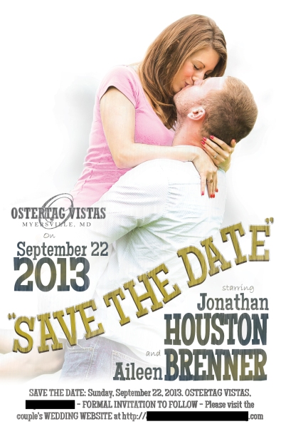 Save the date design