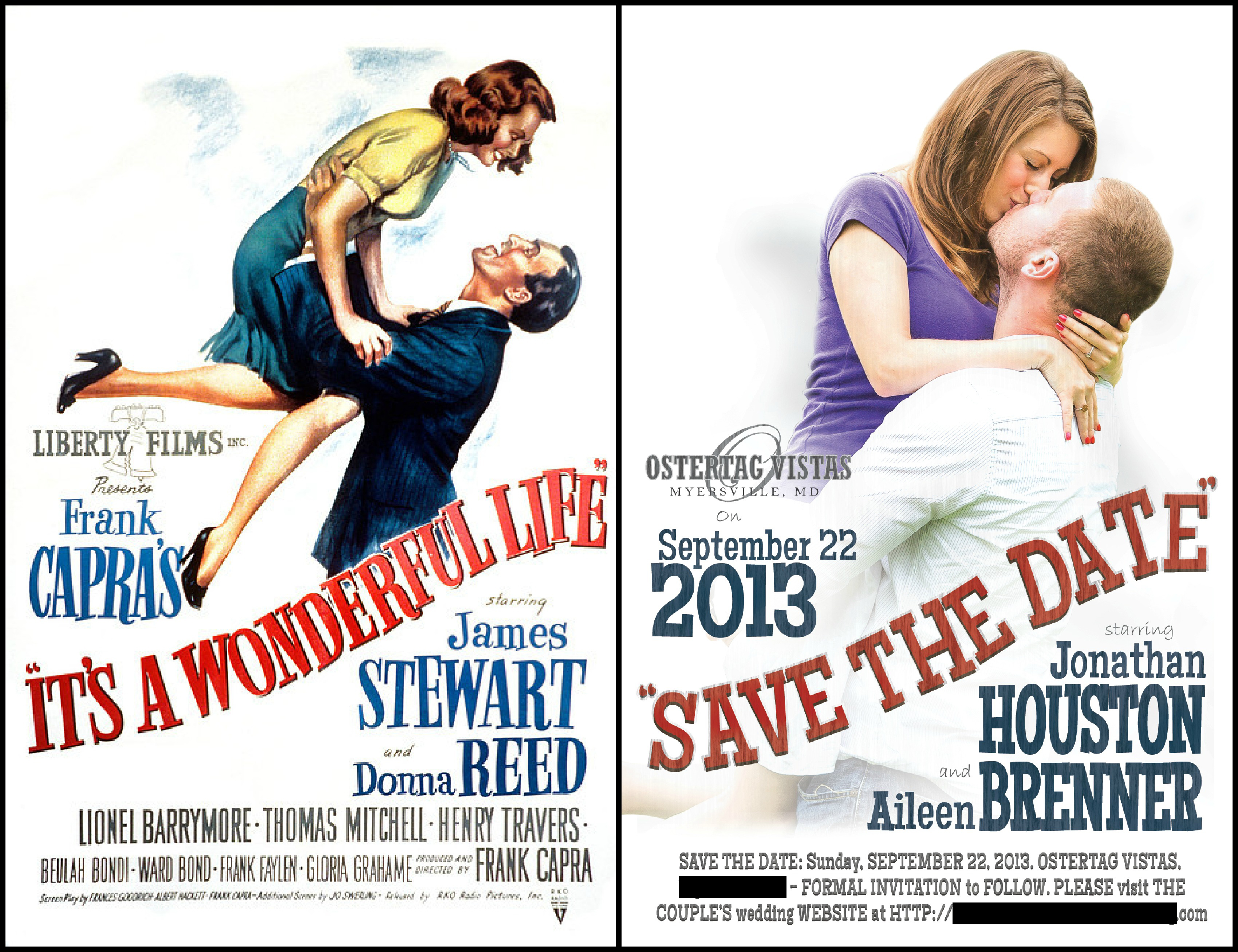 save the date movie poster design