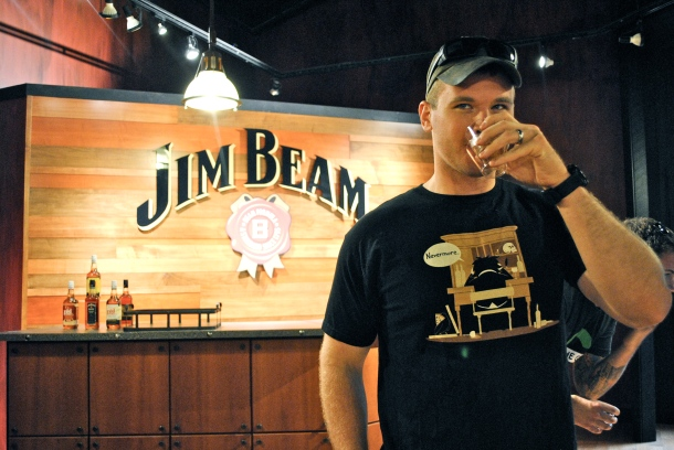Jonathan at Jim Beam