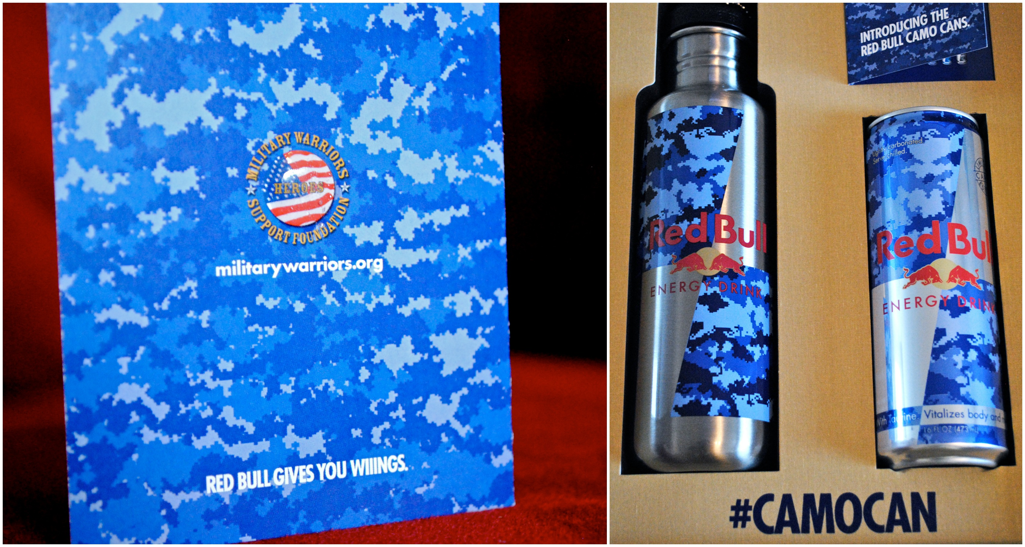 Military Warriors Red Bull Camo Can