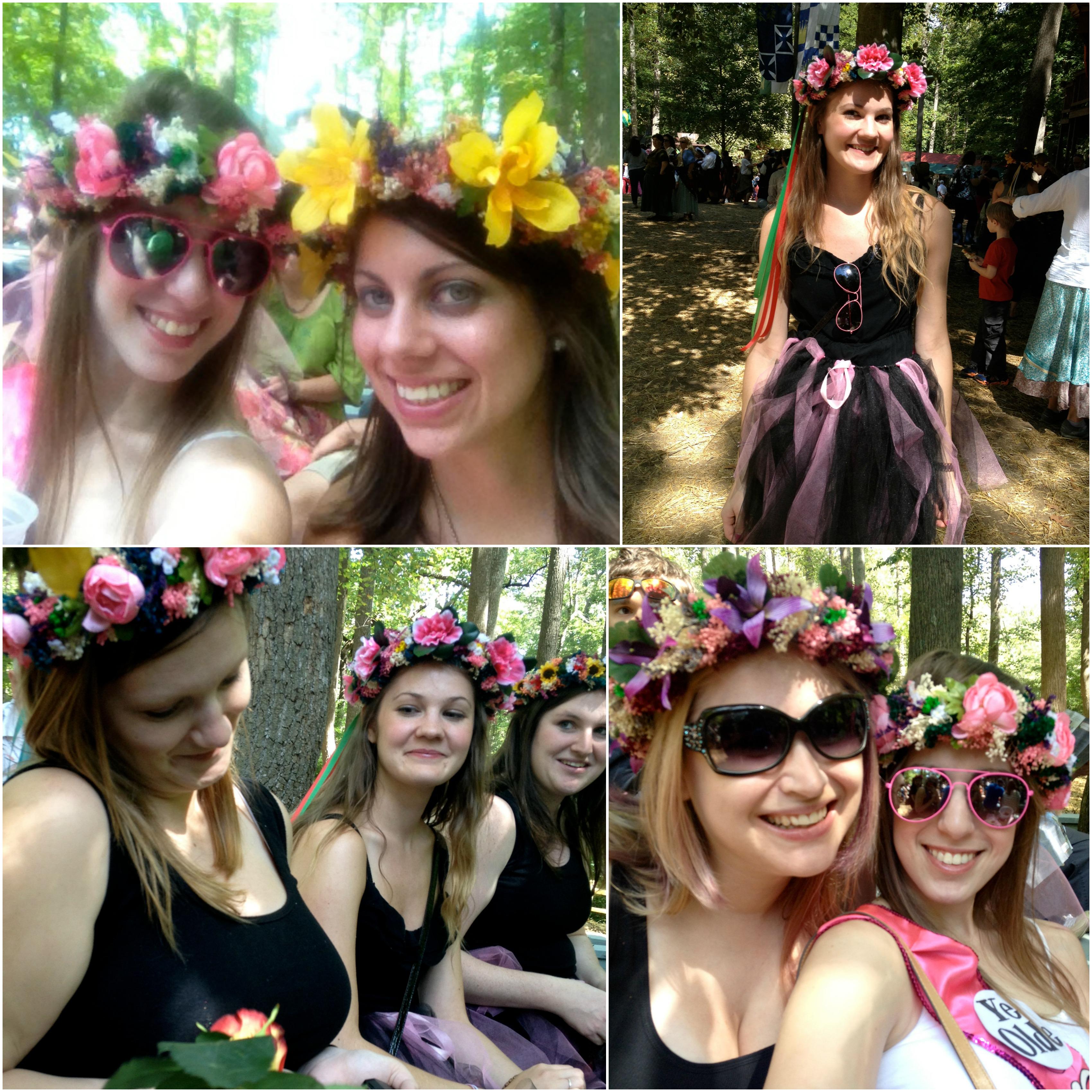 Flower garland bridesmaids