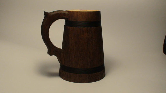 Wooden beer mug groomsmen gift