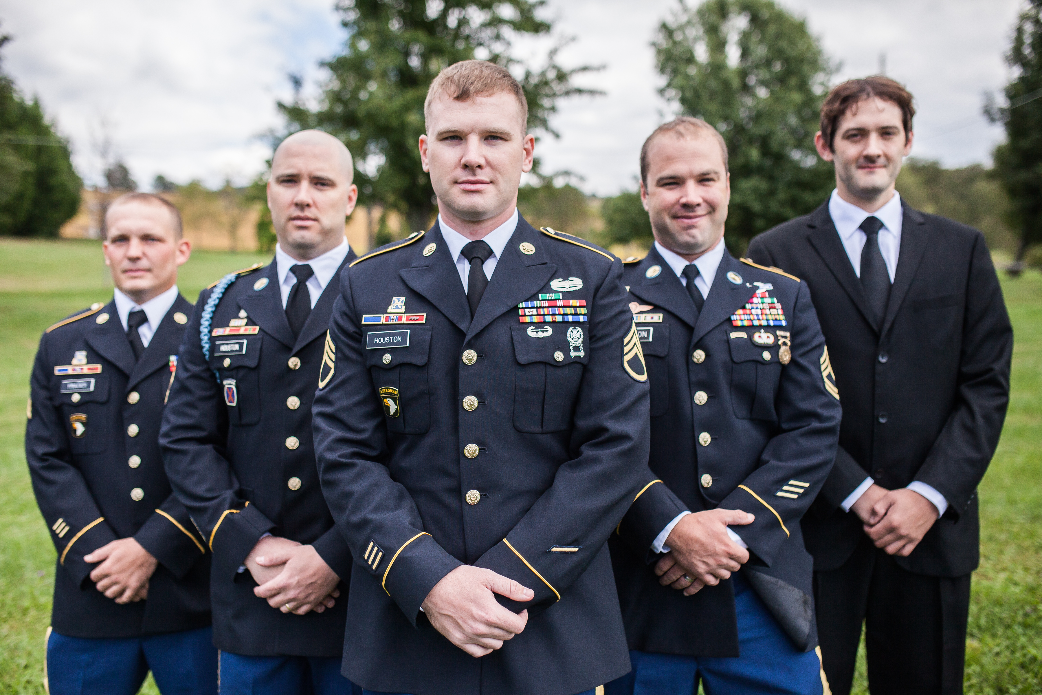 Groomsmen in Dress Blues