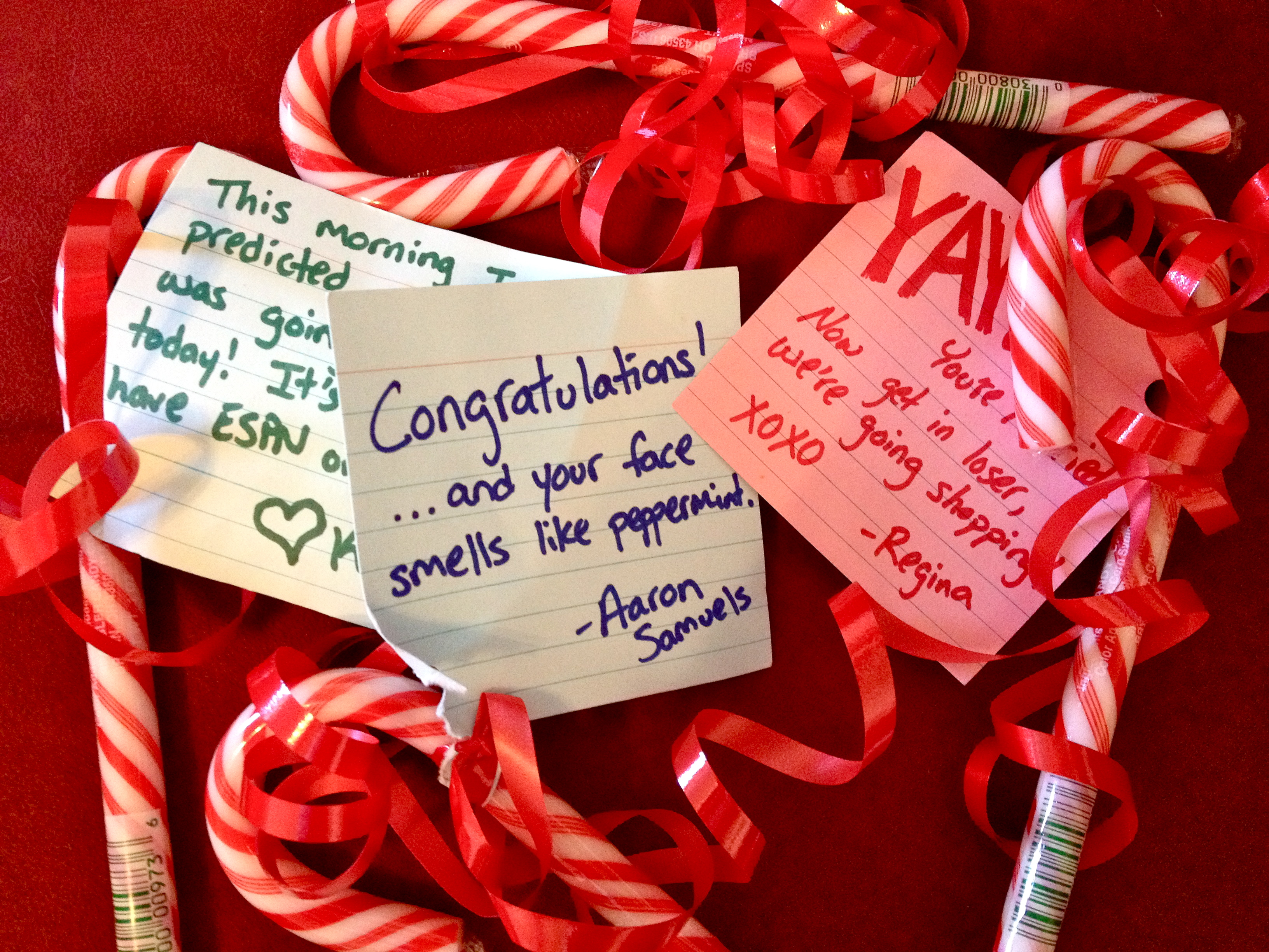 Wedding Mean Girls candy cane grams