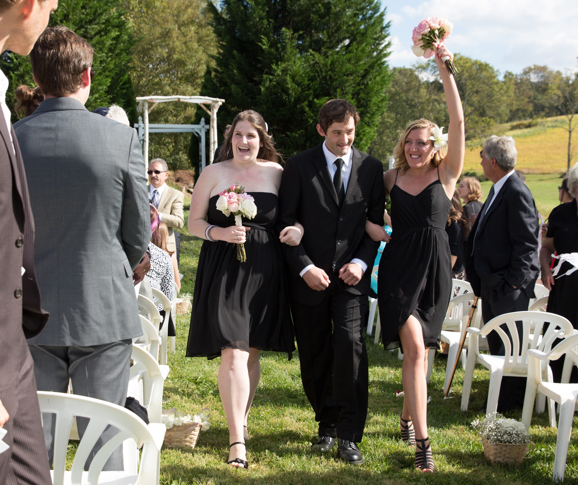 Wedding party recessional