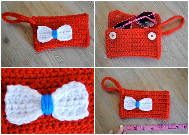 Small red white and blue wristlet